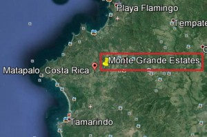 Monte Grande Estates is perfectly central to Tamarindo & Flamingo. Just 3 miles to Playa Grande
